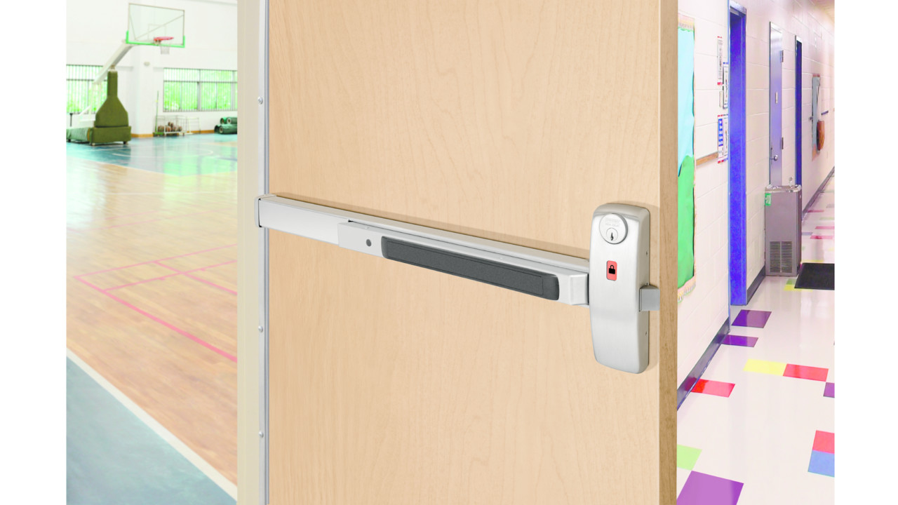 Sargent 80 Series Exit Device With Lock Unlock Indicator