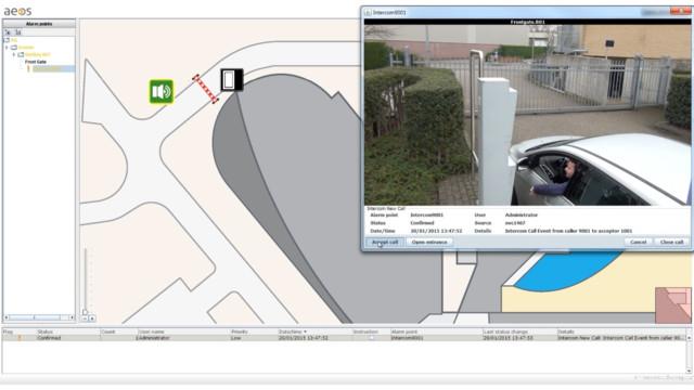 Nedap integrates security platform AEOS with Commend intercom