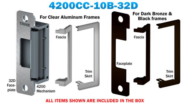 trine s dual finish 4200cc 10b 32d electric strike for aluminum frames rh securityinfowatch com