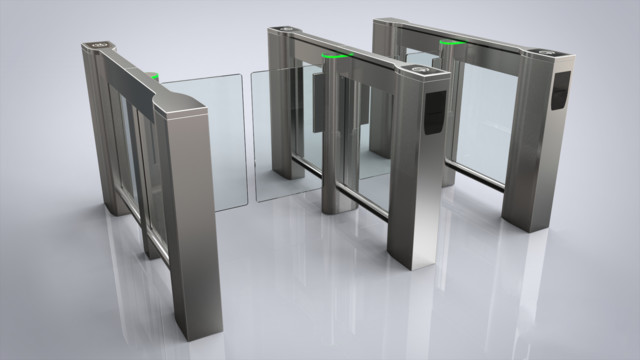 Slimlane ep optical turnstile from automatic systems