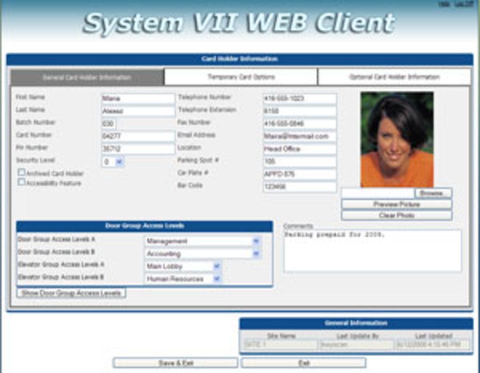 Keyscan System VII web client released