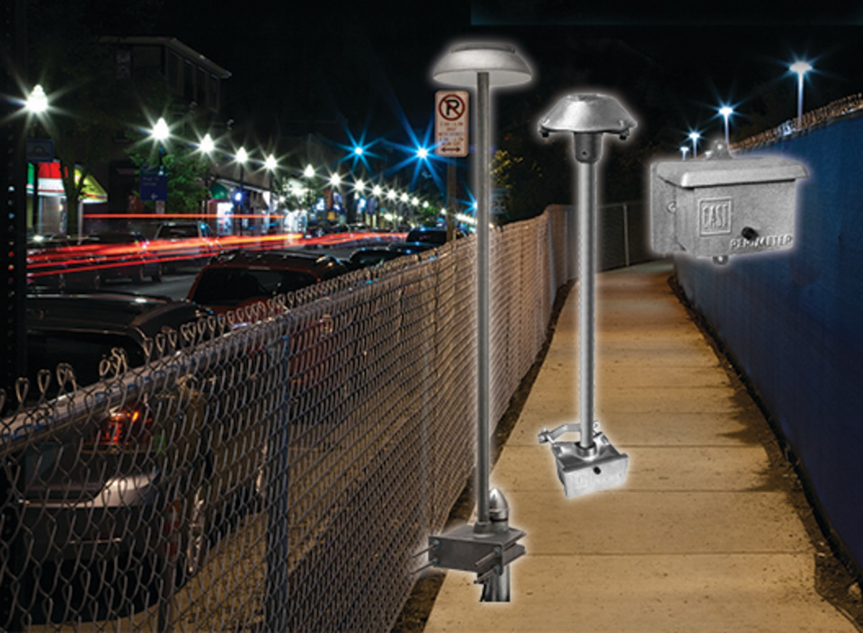 Cast Lighting Led Perimeter System In Security