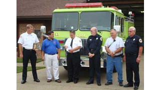 EMERgency24 donates $1K to Indiana volunteer fire department