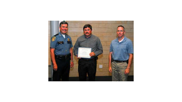 RAE Systems sales manager honored by Seattle Police Department