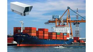 Commercial harbor in Antwerp, Belgium deploys an array of surveillance cameras