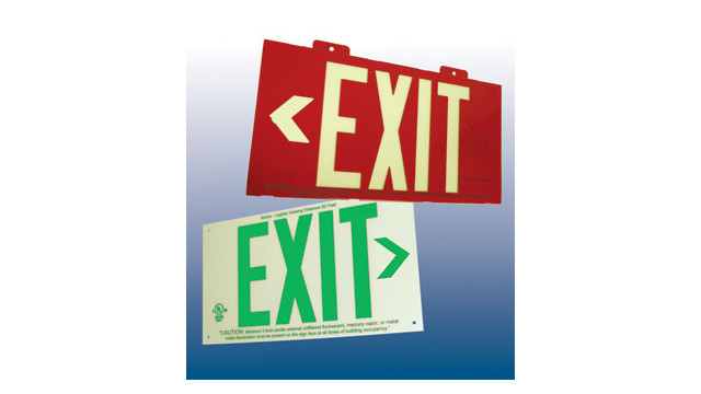HPL Series photoluminescent exit signs