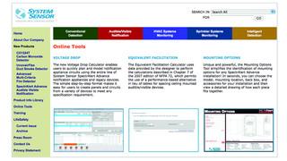 system sensor online tools