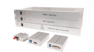 fiber interfaces and electrical splitters
