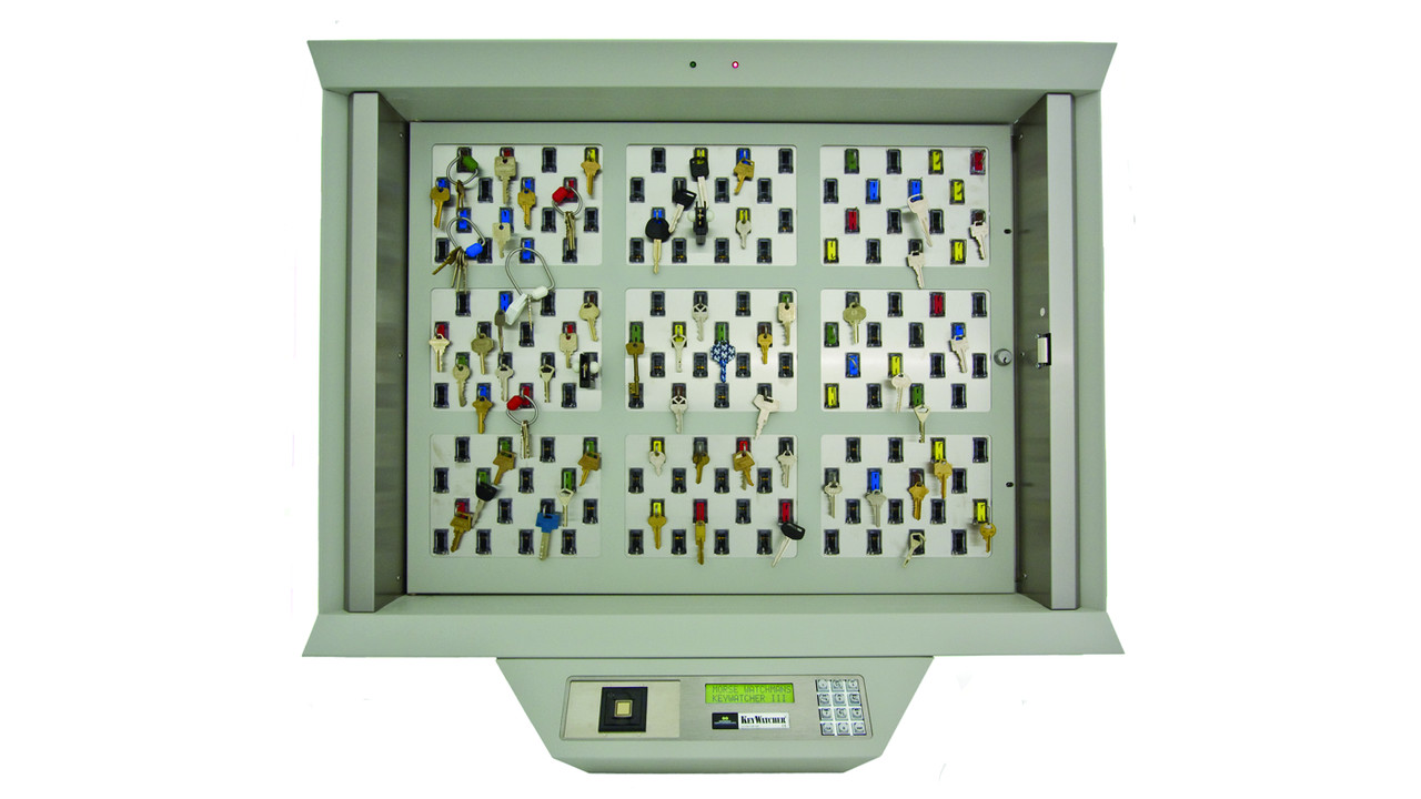 9 module keywatcher illuminated cabinet system
