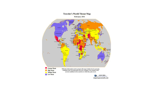 Traveler's World Threat Map