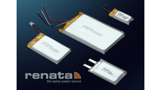 Renata Batteries introduces line of 3.7V lithium polymer rechargeable cells and packs