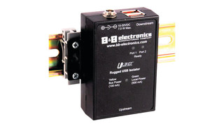 B&B Electronic's Ulinx UHR401 and UHR402 USB Isolators