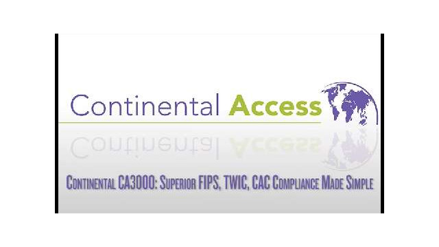 Using FIPS, TWIC and CAC cards with Continental Access CA3000 card access control software