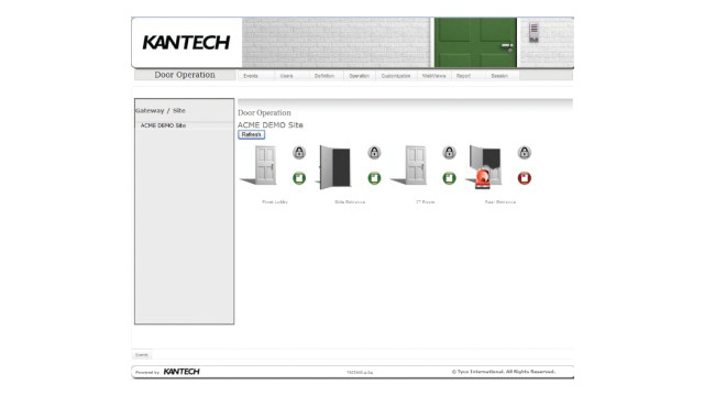 Kantech's hattrix managed access control solution