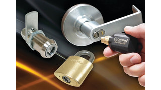 CyberLock electromechanical lock cylinders and smart keys