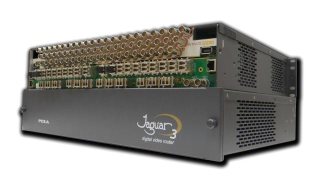 PESA's Jaguar 64X64 3G-SDI Fiber Matrix Switcher