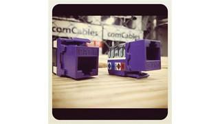 ComCables' Cat 5E and Cat 6 Purple Jacks