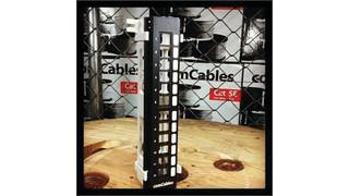 ComCables' Vertical Panel Mini 12 Port Unloaded