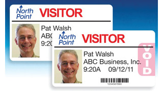 Visitor Pass Solutions' Self-Expiring Badges for Inkjet Printers