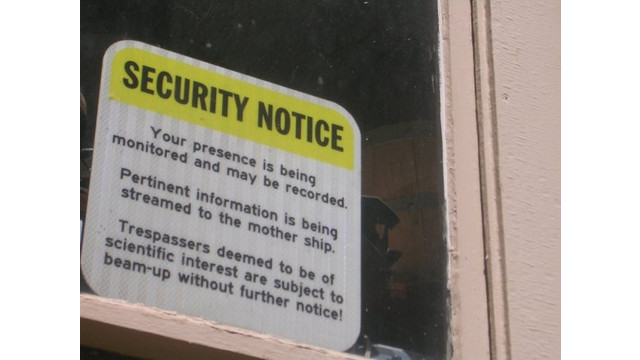 Weird & Funny Security Signs | SecurityInfoWatch.com