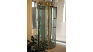 ClearLock and RevLock security revolving doors