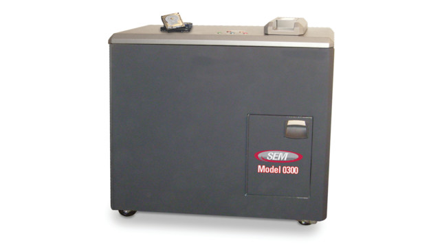 Model 0300 Jackhammer Hard Drive Shredder from Security Engineered Machinery (SEM)