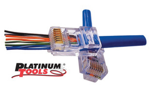 Platinum Tools' EZ-RJ45 Shielded Cat5e/6 Connectors