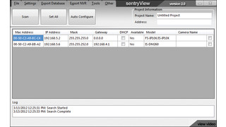 Sentry360's SentryView Universal Camera Configuration Tool