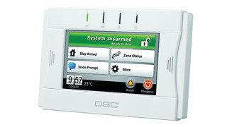 DSC's WTK5504 2-Way Wireless Touchscreen Arming Station