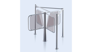 PERCo-RTD-03S Waist-High Rotor Turnstile with RB-03S guide barrier set