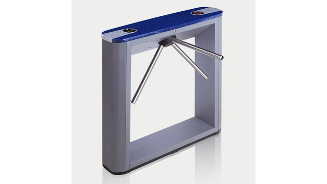 TTD-03.1G Box Tripod Turnstile with blue top cover