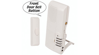 STI's V34600 Wireless Doorbell Button with 4-Channel Voice Receiver