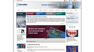 Camden Door Controls enhances its corporate website