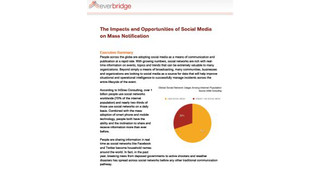 The Impacts and Opportunities of Social Media on Mass Notification