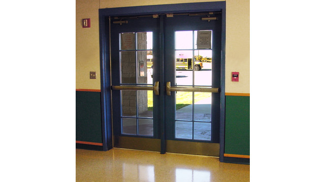 Detex-Retrofit---Hoffmann-Cafeteria-Front-Doors.jpg  sc 1 st  SecurityInfoWatch.com & Detex panic hardware ideal for retrofit projects