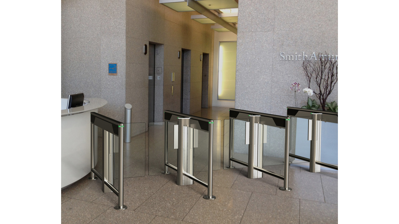 Slimlane optical turnstile securityinfowatch
