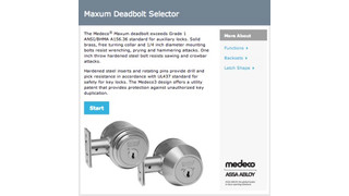 Medeco's online 'Deadbolt Selector' now available