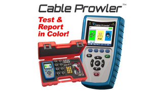Platinum Tools features new Cable Prowler full color display cable tester and report management system at 2014 ISC West