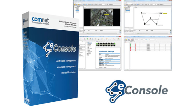 eConsole Network Management Software for ComNet Ethernet Switches