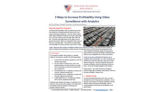 3 Ways to Increase Profitability Using Video Surveillance with Analytics
