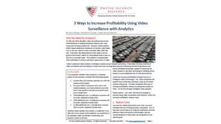 3 Ways to Increase Profitability Using Video Surveillance with Analytics