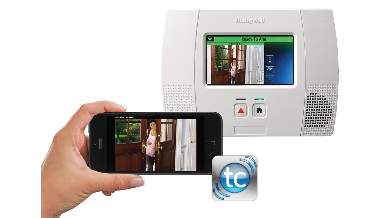 Honeywell S Lynx Touch 5200 Alarm Panel