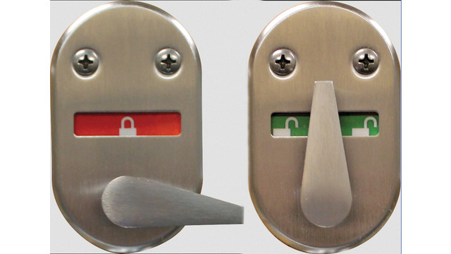 40H Visual Indicator Thumb-Turn Option for Mortise Locks