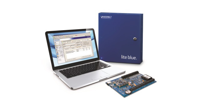 Vanderbilt Industries' lite blue 2-door Web-Based Access Control System